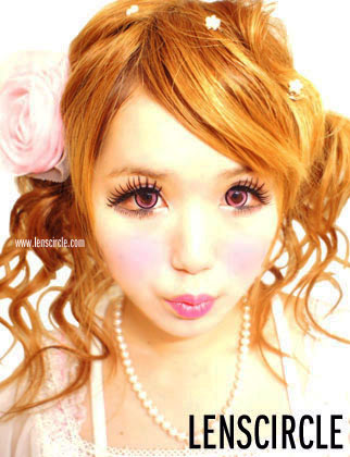 crystal pink circle lenses