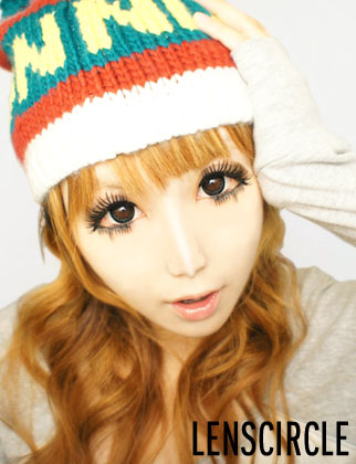 diamond black circle lenses