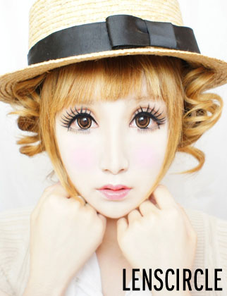 twirl brown circle lenses