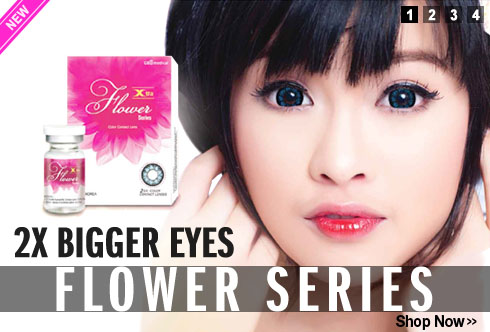 new in mimi flower series circle lens
