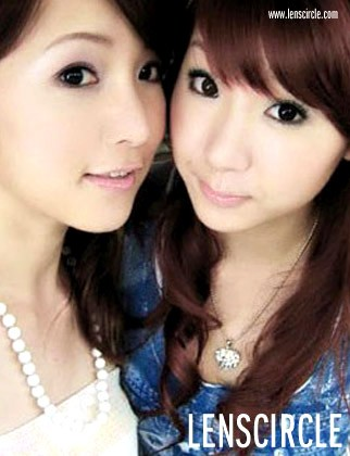 grey twin circle contact lenses