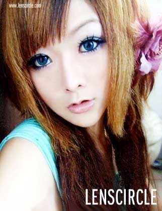 blue nudy circle contact lenses