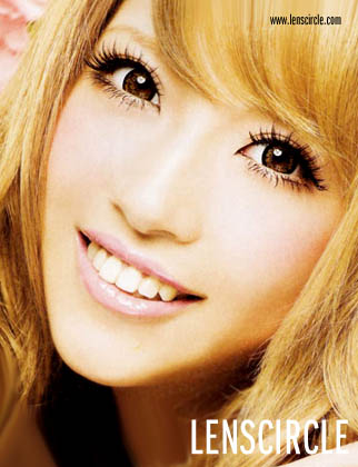 brown super angel circle contact lenses