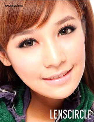 brown super nudy circle contact lenses