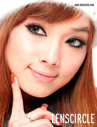 green super nudy circle contact lenses
