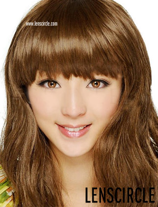 brown twin circle contact lenses
